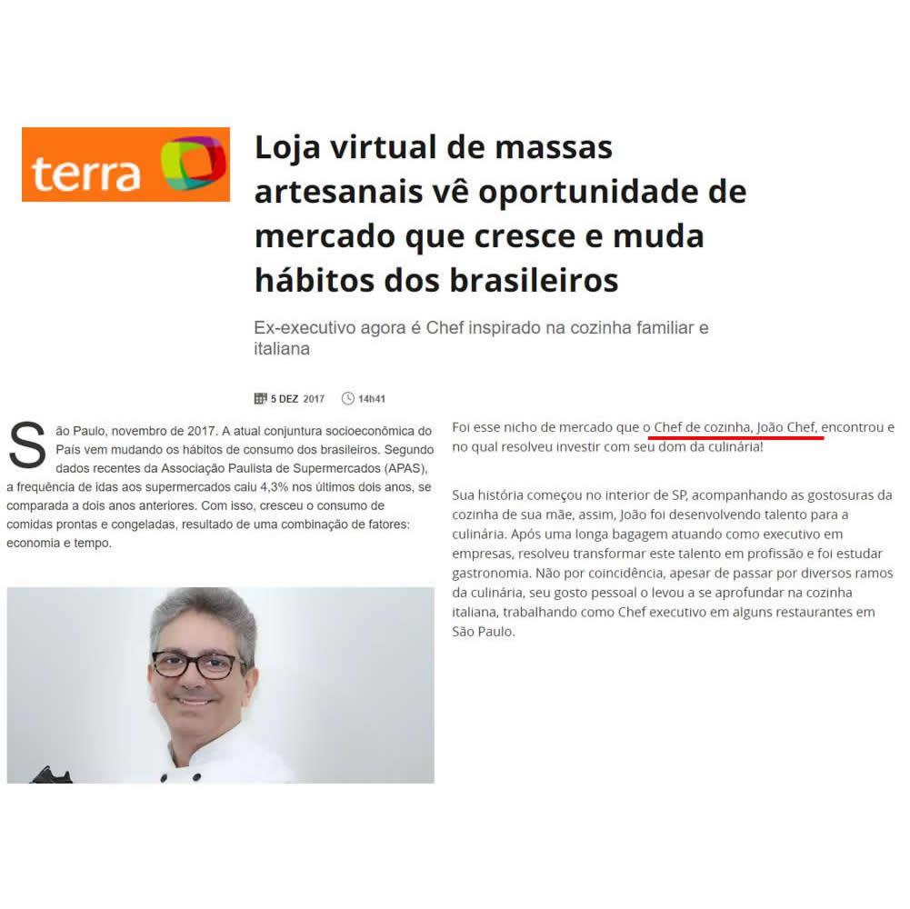 Cliente João Chef - Veículo Portal Terra