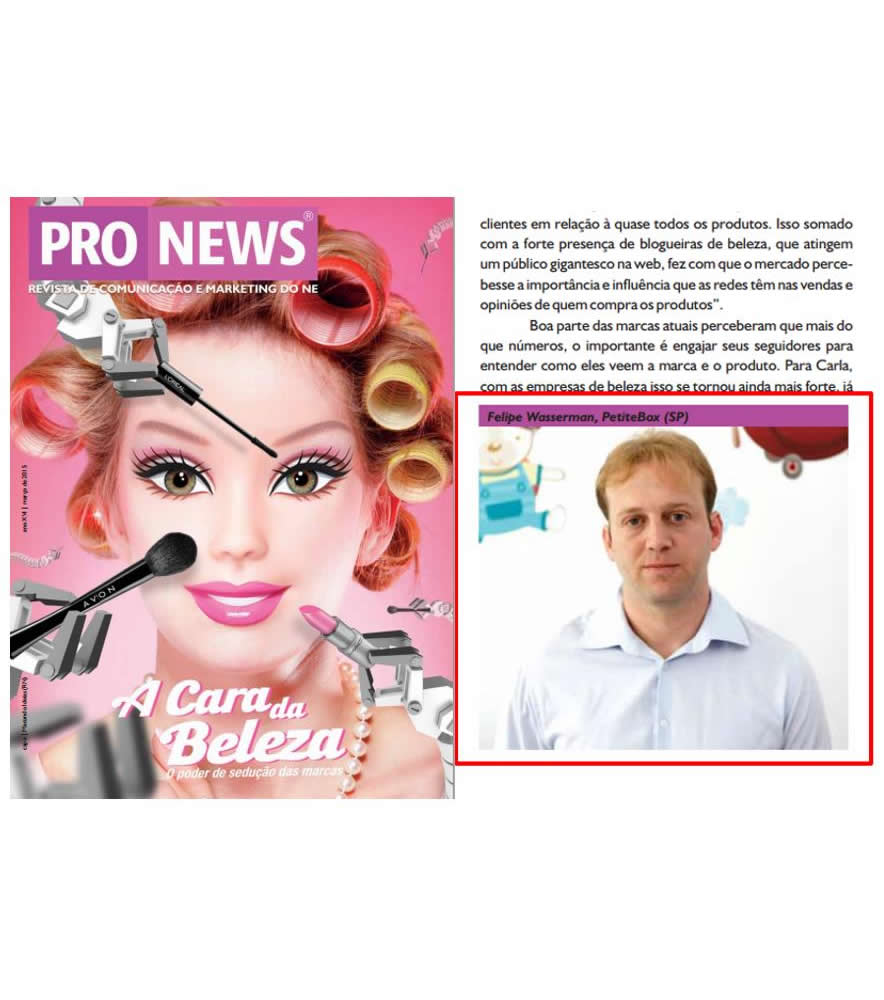 Cliente PetiteBox na Revista Pro News