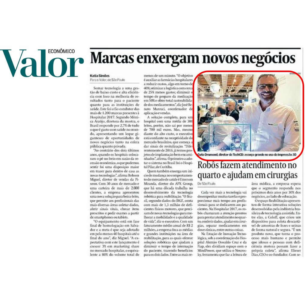 Cliente TechCD no Jornal Valor Econômico