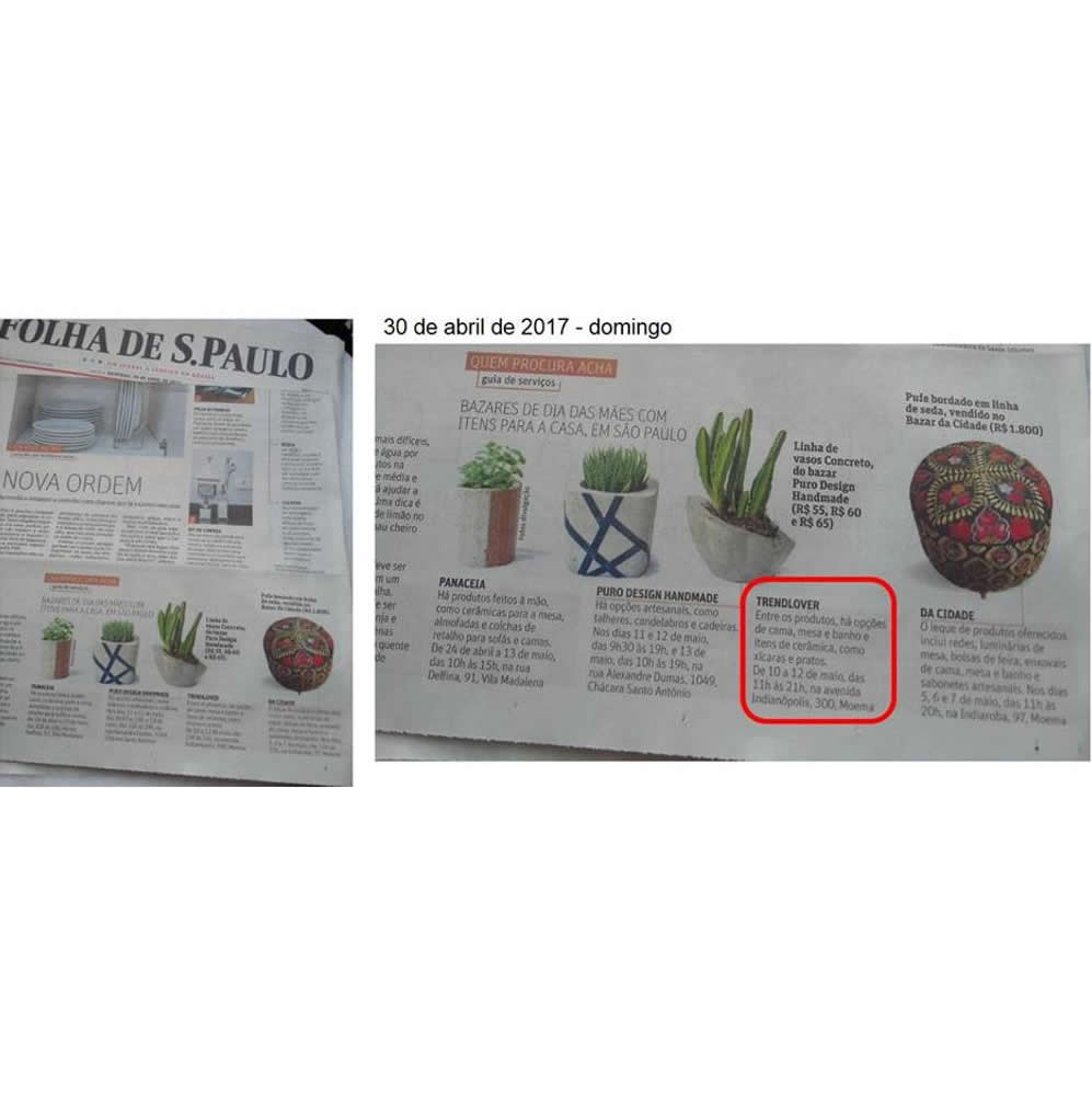 Cliente Trend Lover na Folha de S. Paulo